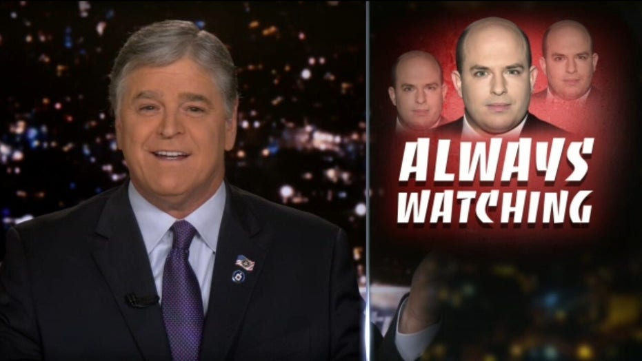 Hannity reacts to 'pro-stalker' Brian Stelter's criticism