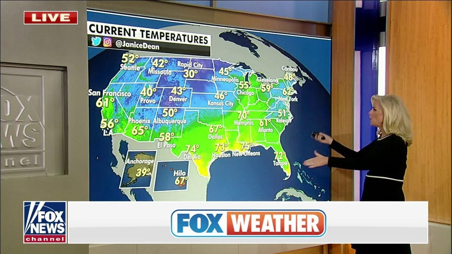 Cold front forecast to bring stormy weather from Great Lakes to Gulf Coast