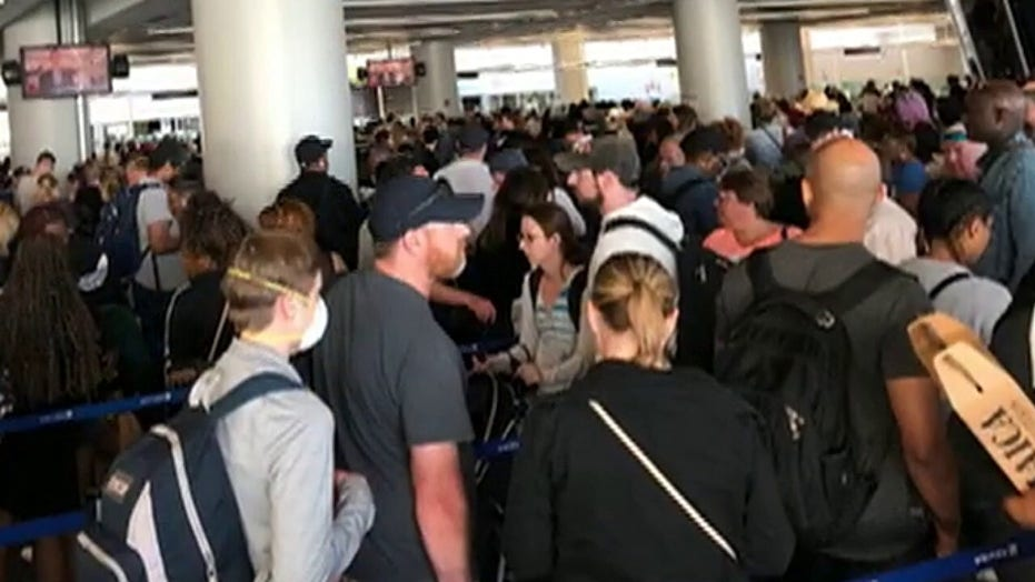 Airports make adjustments after travelers get trapped in long customs lines