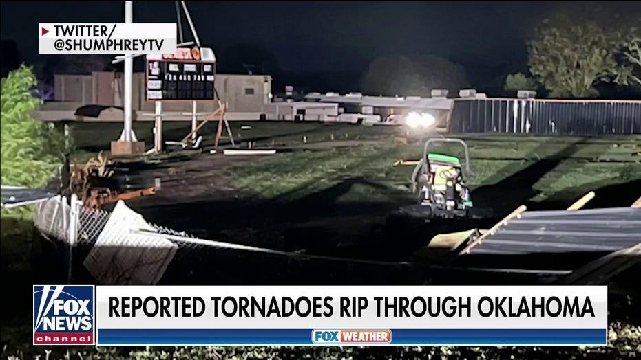 Tornados rip through Oklahoma along with baseball-sized hail