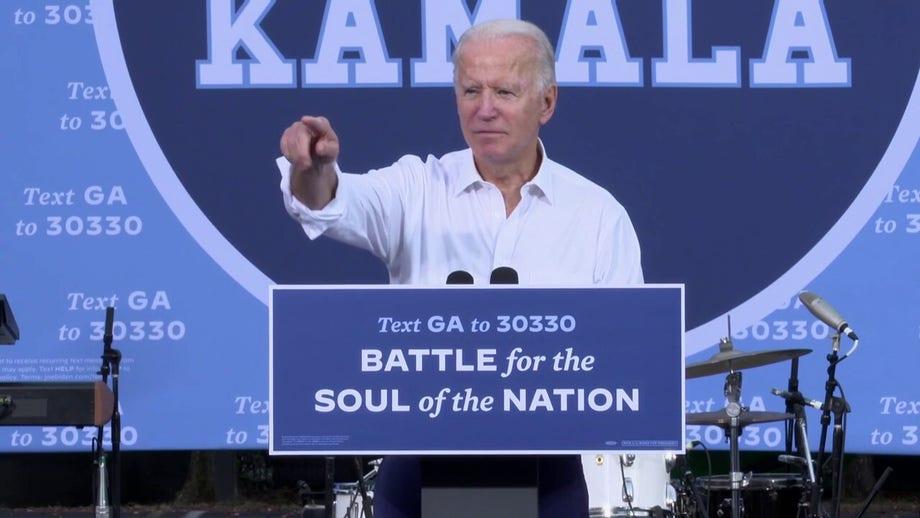 Playing offense, Biden pledges if 'we win Georgia, we win everything'