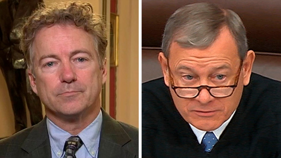 Sen. Paul on Chief Justice Roberts refusing his question during trial