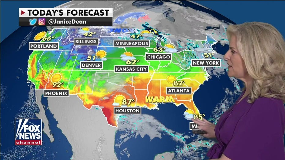 National weather forecast: Area of low pressure to bring wintry weather across northern tier of US
