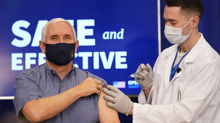 Pence gets COVID-19 vaccine to show it's 'safe and effective'