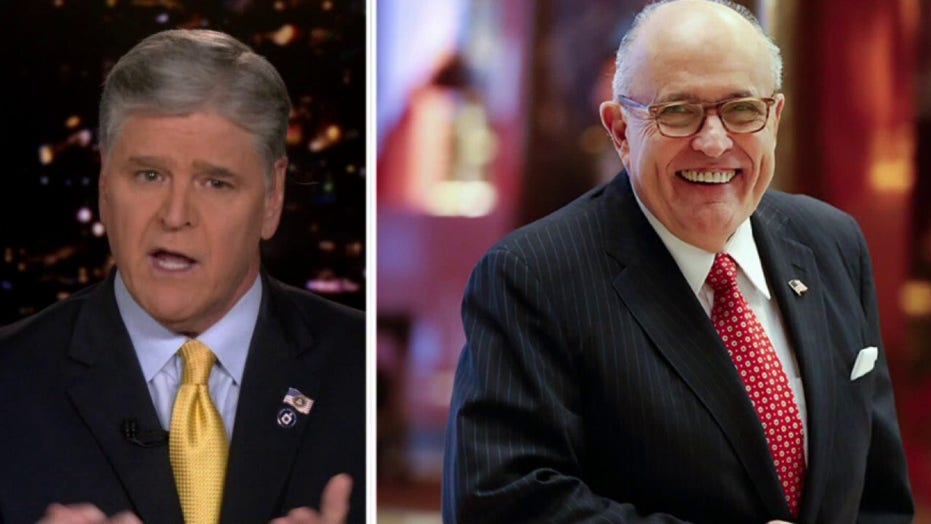 Hannity slams DOJ for possible 'political motives' in predawn raid of Giuliani's home, office