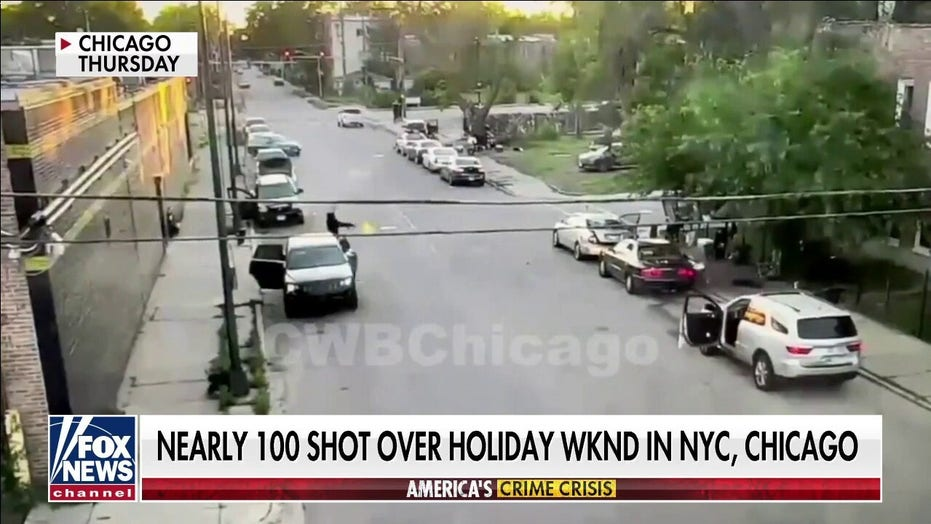 Nearly 100 shot in New York and Chicago over holiday weekend