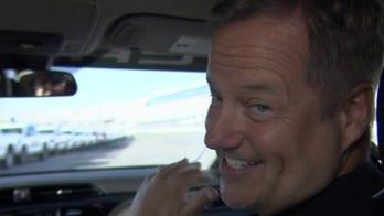 Rick Reichmuth rides in Daytona pace car with Erik Jones