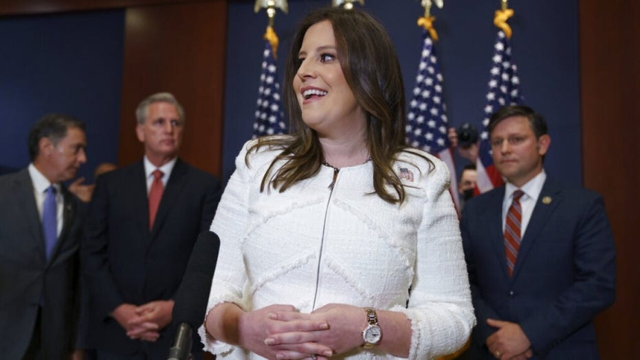 'The House GOP is united and the MAGA movement is strong': Trump congratulates Elise Stefanik after her election to No.3 in the Republican Party following the ousting of Liz Cheney