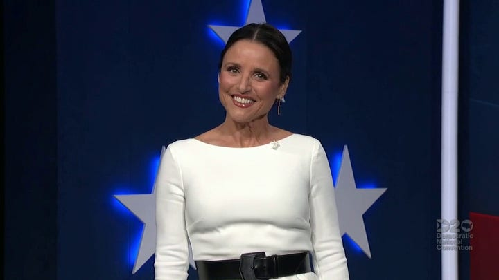 Julia Louis-Dreyfus opens night 4 of DNC with jabs at Pence, Trump