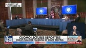 Cuomo lectures reporter