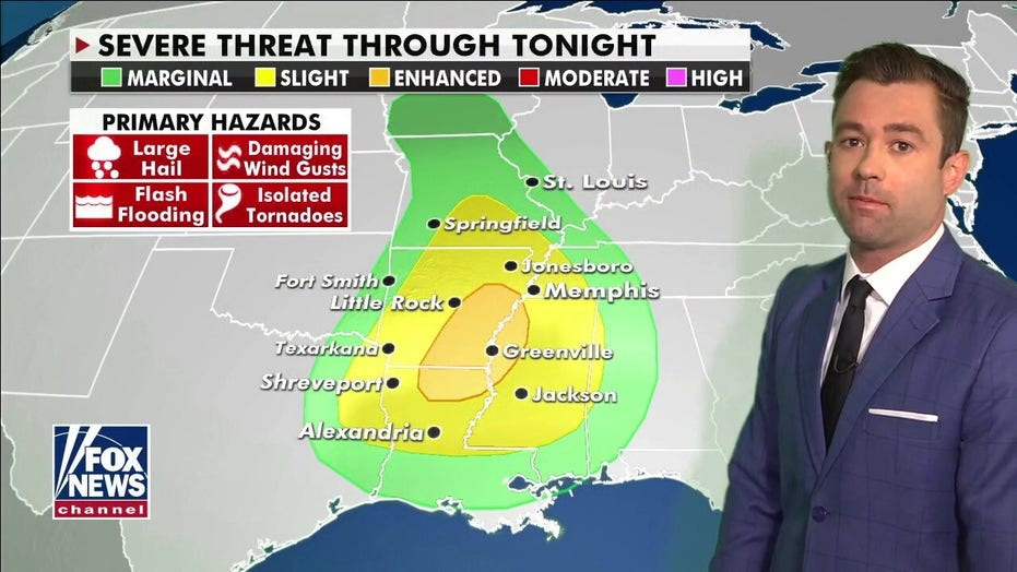 National weather forecast: Severe storms, potential heavy rain possible in southern US