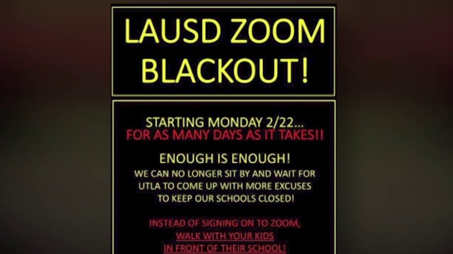 Los Angeles parents organize 'Zoom blackout' to protest school closures: 'Enough is enough'