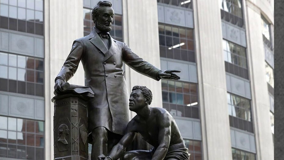 Statue of Abraham Lincoln with kneeling slave removed in Boston