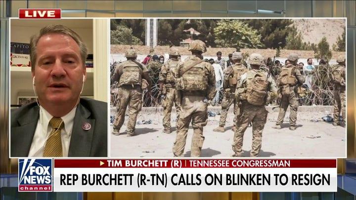 대표. Burchett calls for Secretary Blinken's resignation