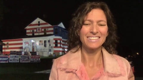 Pa. woman behind the 'Trump House' says people are 'coming out in flocks' for president