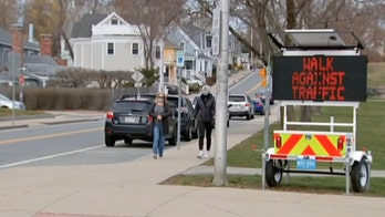 Massachusetts city enforces one-way sidewalks to help promote social distancing