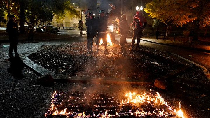 Protests erupt around the country on Election Night
