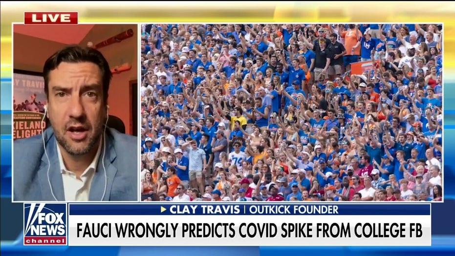 クレイ・トラヴィス: Fauci's prediction on college football games and COVID infections 'hasn't materialized'