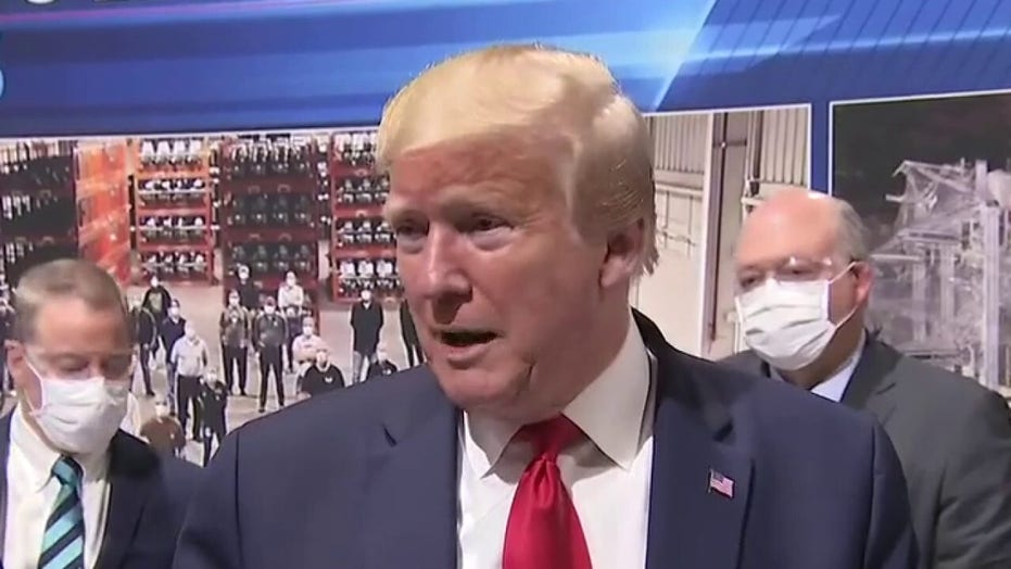 Trump: I had a mask on before I came out