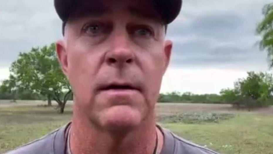 Texas ranch owner's interview interrupted as agents pursue migrants on property