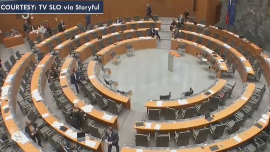 Slovenian lawmakers evacuate meeting after earthquake rocks Croatia