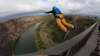 Idaho BASE jumpers rebuff regulation, control fear when leaping off 500-foot bridge