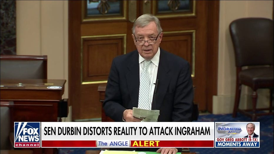 Ingraham rips 'anti-Democrats' like 'fossil' Durbin calling for 'Angle' to go