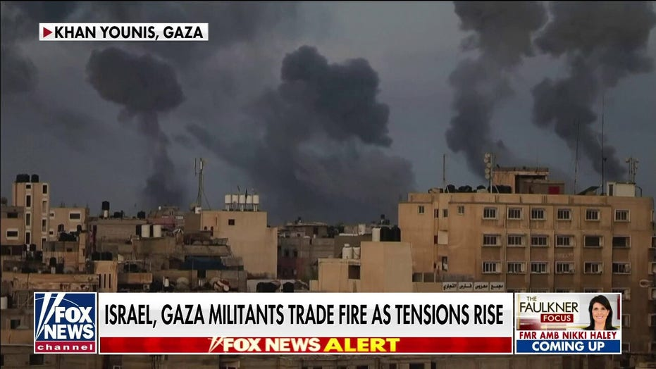 Israel, Gaza militants trade fire as tensions rise: Trey Yingst reports from the ground