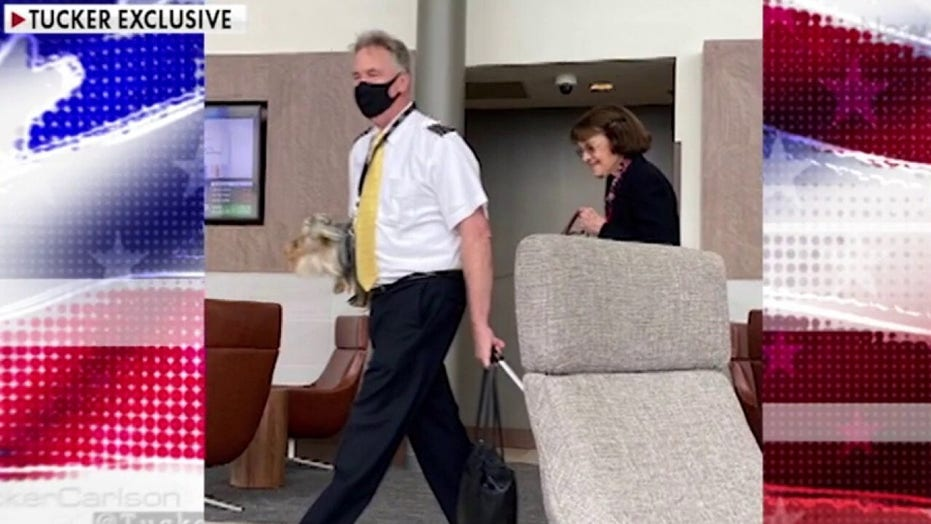 Sen. Dianne Feinstein photographed not wearing mask in airport