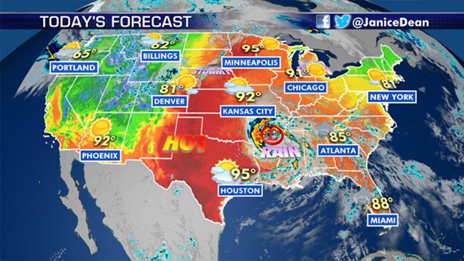 National forecast for Monday, June 8