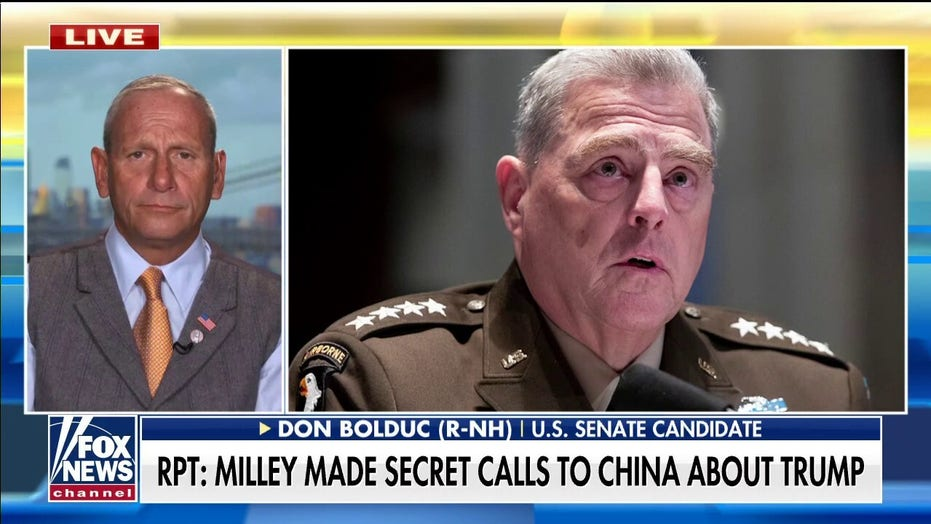 Retired general calls for Milley's resignation: Actions 'somewhere between treason and dereliction of duty'