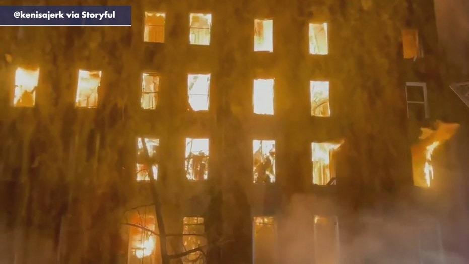 VIDEO: Massive NYC fire rips through 128-year-old church, nearby buildings