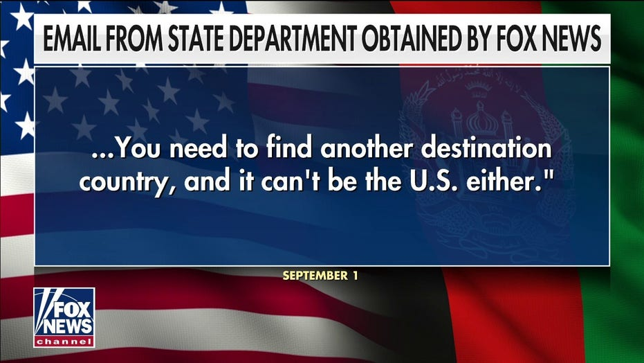 Email obtained by Fox News shows State Dept blocked private rescues from Afghanistan