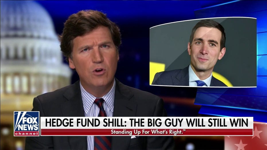 Tucker Carlson rips CNBC's Sorkin as 'professional hedge fund shill' after Robinhood restricts trading