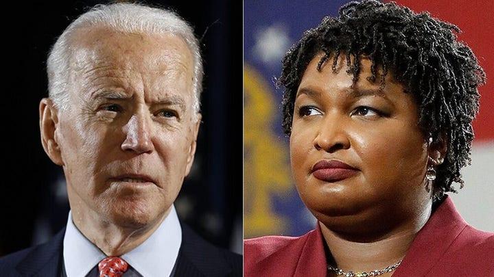 Gov. Kemp slams Biden, Abrams for lying about Georgia election law