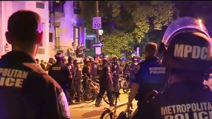 Massive law enforcement show of force in Washington, DC