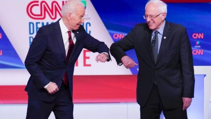 Coronavirus pandemic front and center at Biden-Sanders debate