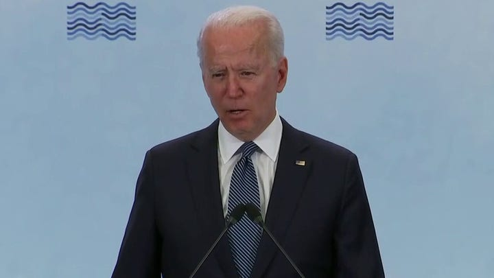 Biden jokes he will 'get in trouble with my staff' for taking extra question at press conference'