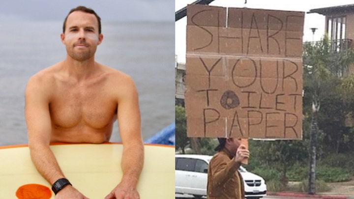 Coronavirus act of kindness: Surfer starts toilet paper swap