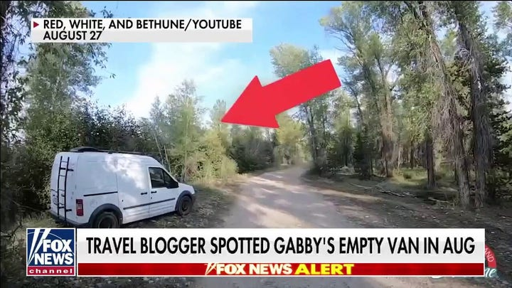 Travel blogger identifies Gabby Petito's van in Wyoming before officials find body matching description