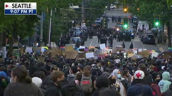 Protesters gather in Seattle after Monday night skirmishes with police