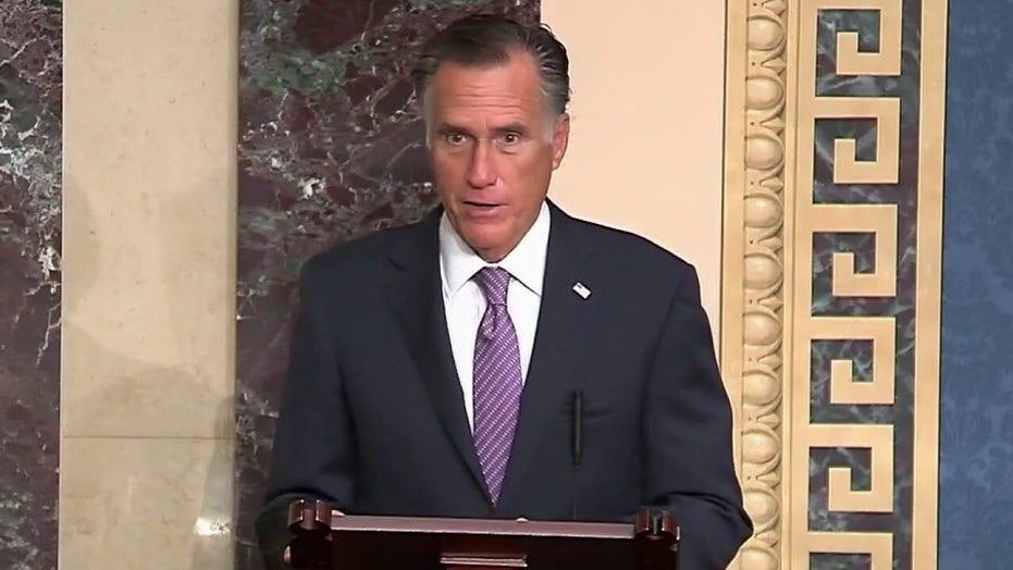 Mitt Romney speaks in support of Barrett confirmation