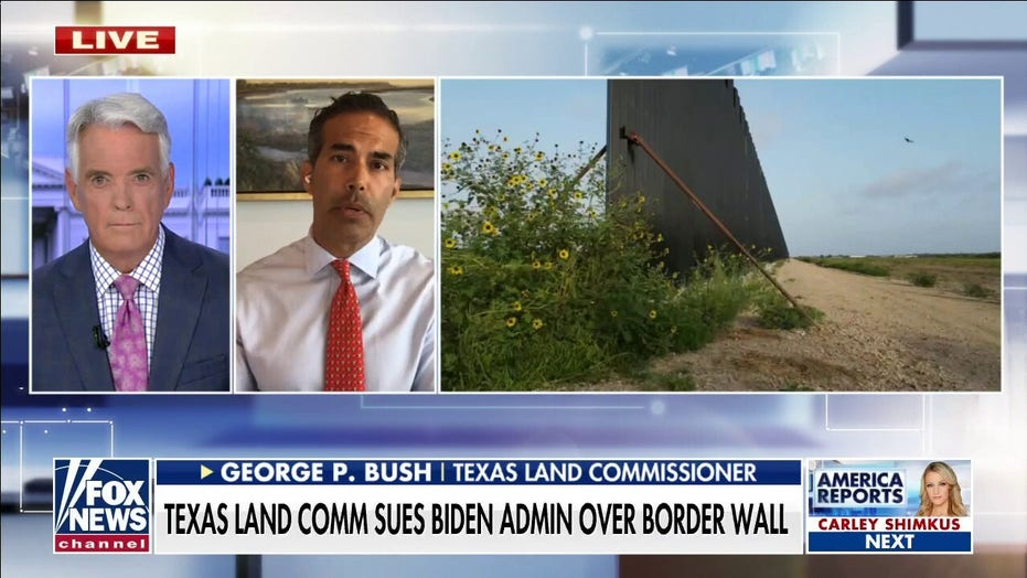 Texas land commissioner sues Biden admin over appropriated border wall funds