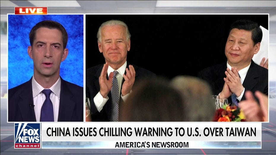 Sen. Cotton on chilling warning by China: Xi waging Cold War and 'Biden is losing'
