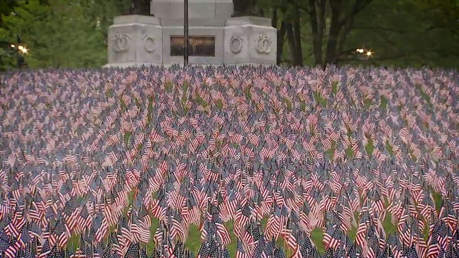 Memorial Day flag garden tradition lives on, despite coronavirus