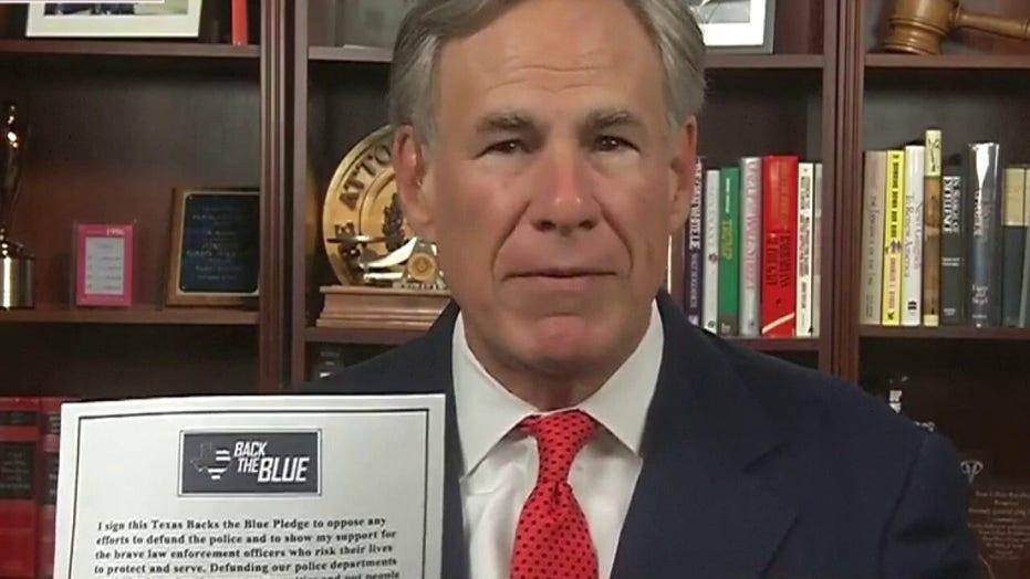 Texas Gov. Abbott on signing 'back the blue' pledge