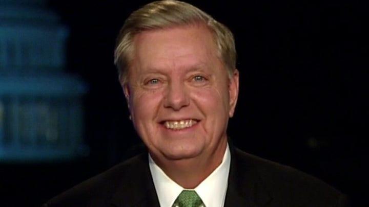 Sen. Lindsey Graham on President Trump's acquittal in Senate impeachment trial, Mitt Romney's guilty vote