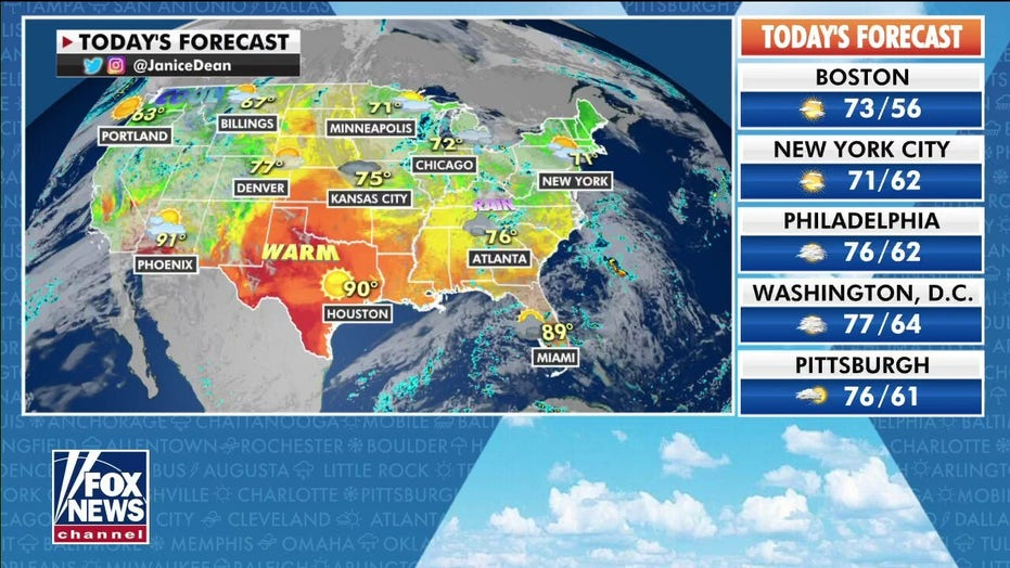 Flooding, thunderstorms forecast for Southeast as cooler weather expected across Northern Plains
