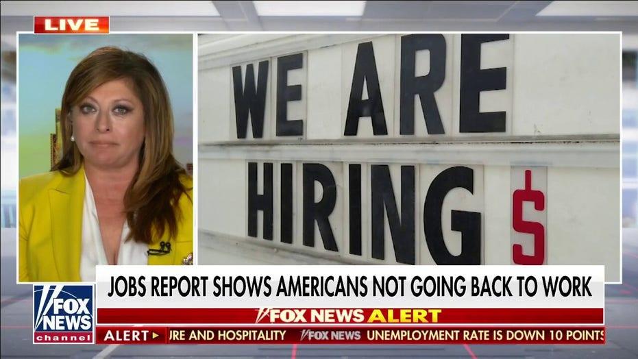Maria Bartiromo says new jobs report 'not good' for Biden admin: Creating a 'welfare state'
