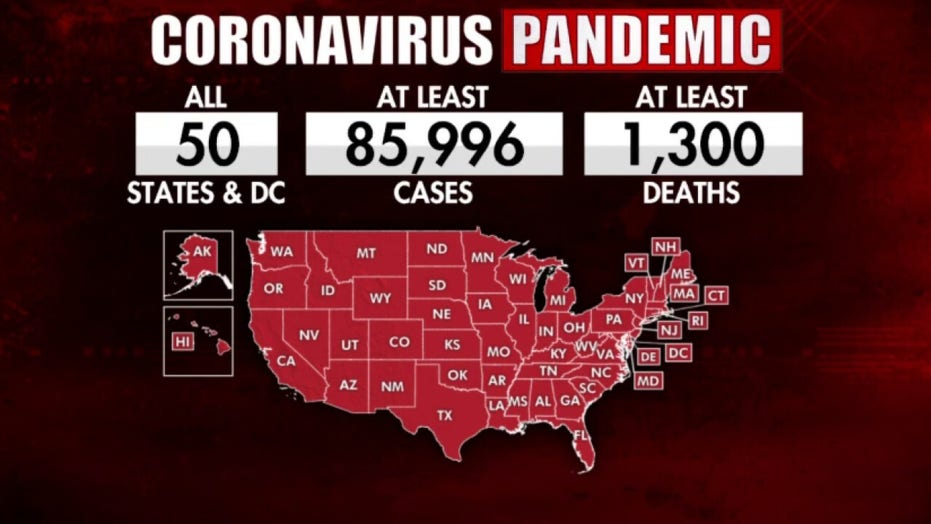 US now leads world with most confirmed coronavirus cases